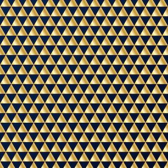 Geometric gold triangles pattern