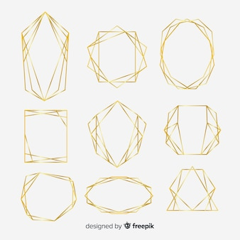 Geometric golden frame collection