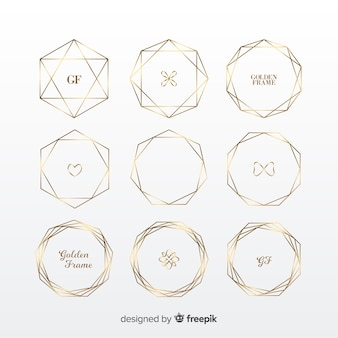 Geometric golden frame set