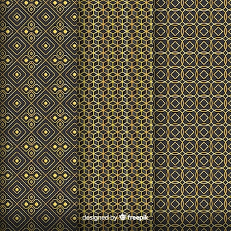 Geometric golden luxury pattern assemble