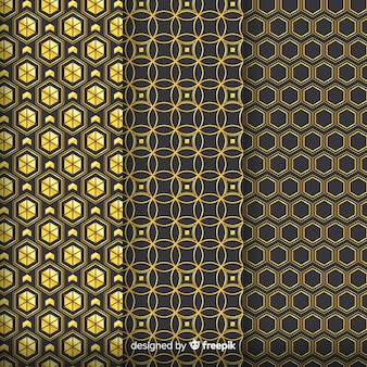 Geometric golden luxury pattern group