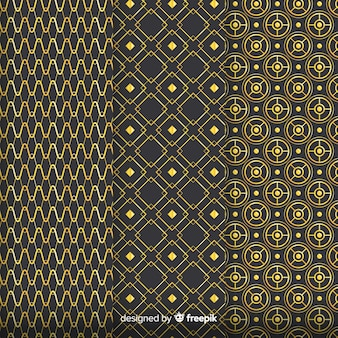 Geometric golden luxury pattern pack