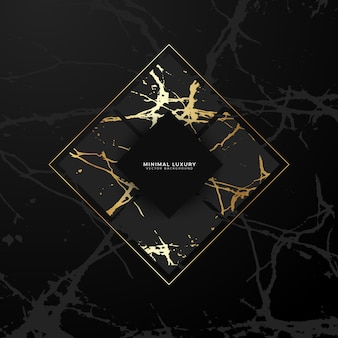 Geometric golden marble background
