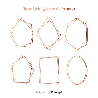 Geometric golden rose frame collection