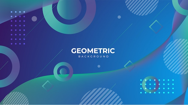Geometric gradient abstract background