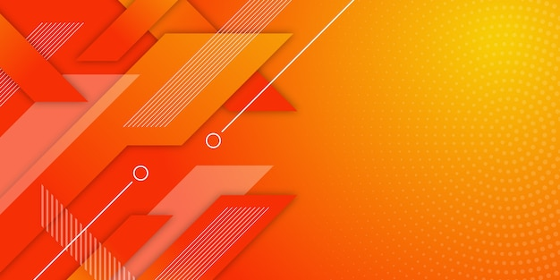 Geometric gradient banner background