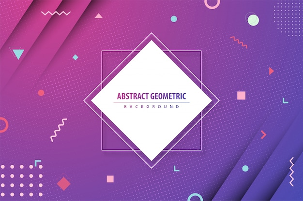 Geometric gradient colorful abstract background