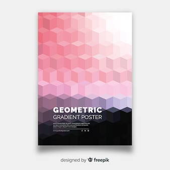 Geometric gradient poster template