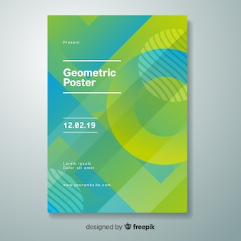 Geometric gradient poster
