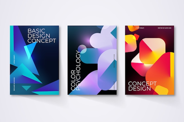 Geometric gradient shapes covers