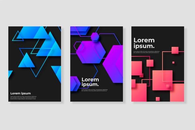 Крышки с геометрическими градиентными фигурами