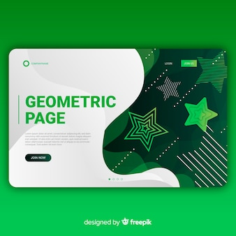 Geometric gradient shapes landing page