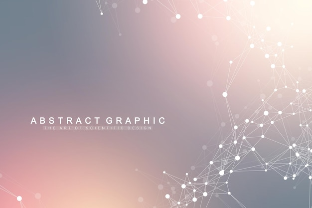 幾何学的なグラフィック背景人工知能