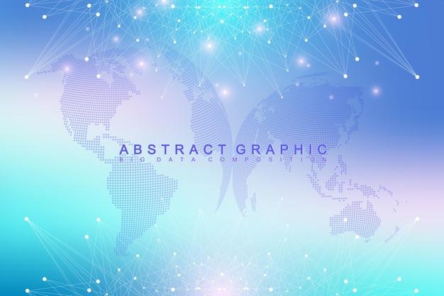 Геометрический графический фон коммуникации иллюстрация