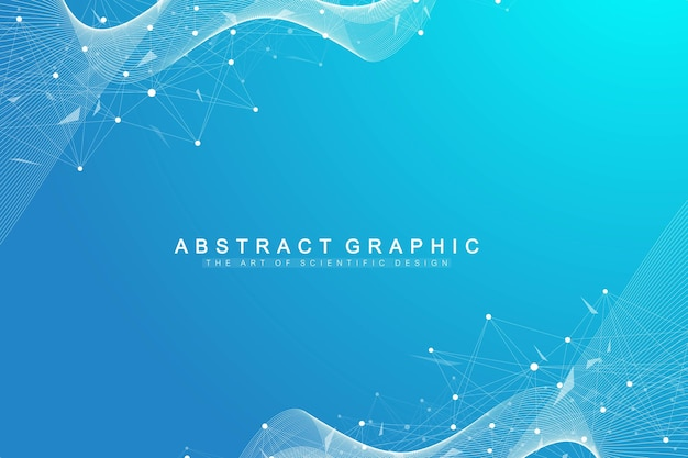 Geometric graphic background molecule and communication illustration