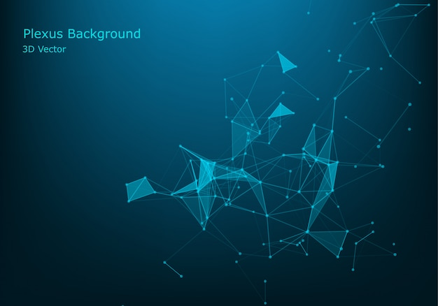 Geometric graphic background molecule and communication.