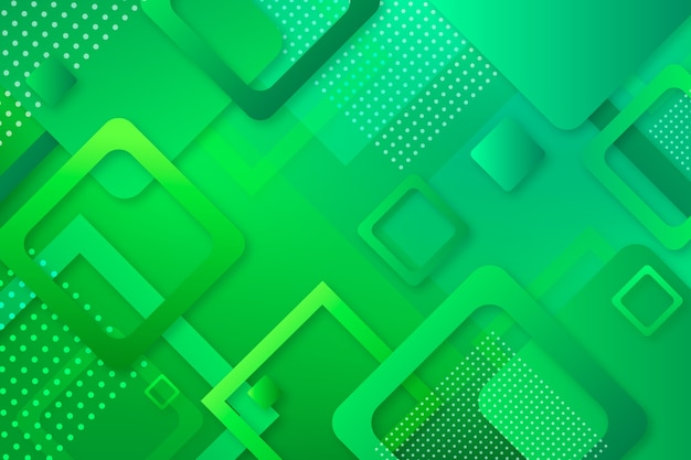 Geometric green abstract background