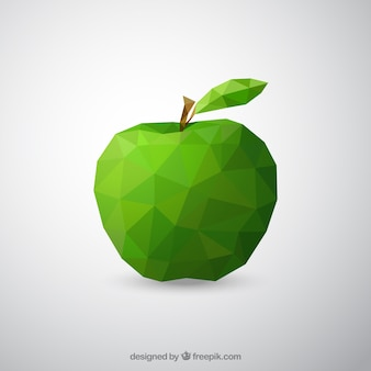 Geometric green apple