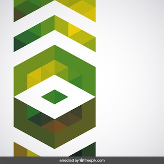 Geometric green decoration