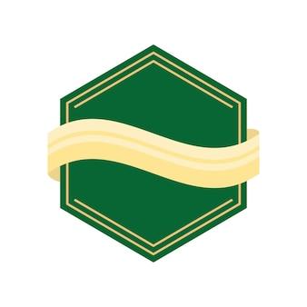 Геометрическая зеленая этикетка
