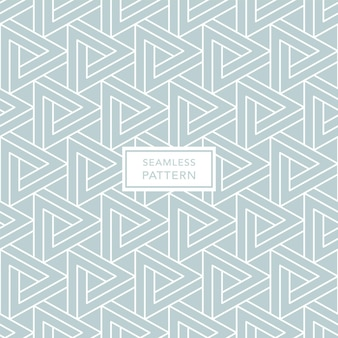 Geometric green seamless pattern with triangles