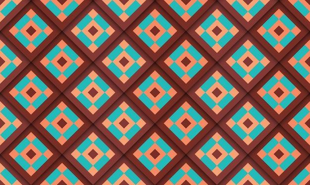 幾何学的なグルーヴィーなパターンのシンプルなデザイン