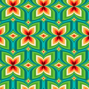 Geometric groovy pattern style Free Vector
