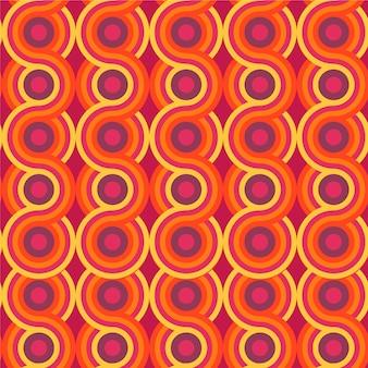 幾何学的なグルーヴィーなパターンのテーマ