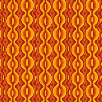 さまざまな形の幾何学的なグルーヴィーなパターン