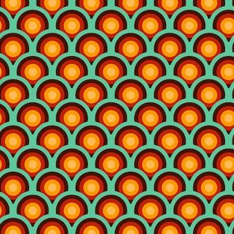 幾何学的なグルーヴィーなパターン