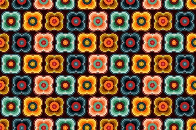 Geometric groovy pattern
