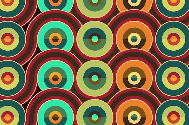 Geometric groovy seamless pattern texture