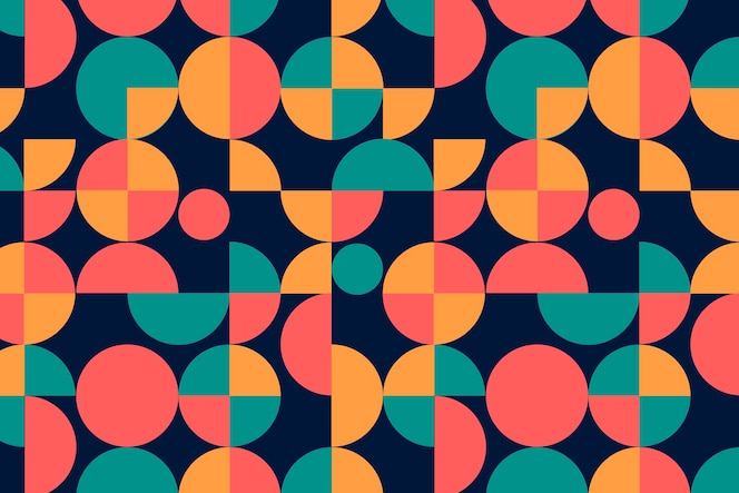 geometric groovy seamless pattern