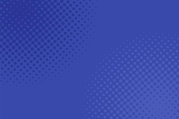 幾何学的なハーフトーンドットパターンの背景-青い円からのベクトルグラフィックデザイン。