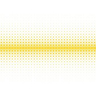 幾何学的なハーフトーンドットパターンの背景 - 白の背景に黄色の円からのベクトルグラフィック