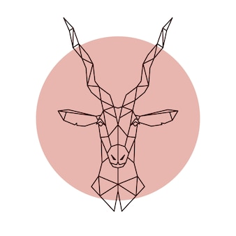 Geometric head of antelope.
