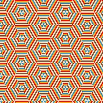幾何学的な六角形のパターンの背景