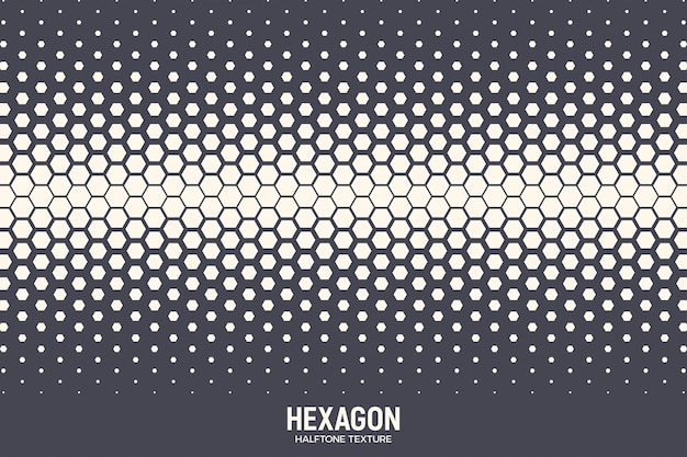 Geometric hexagonal halftone texture abstract background
