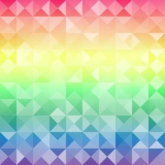 텍스트에 대 한 장소를 가진 기하학적 Hipster 복고풍 배경. 레트로 삼각형 배경 프리미엄 벡터