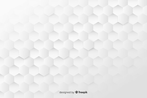 Geometric honeycomb shapes background in paper style