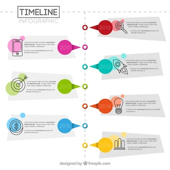 Geometric infographic of timeline