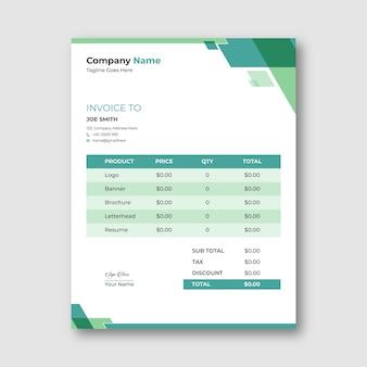 Geometric invoice template design