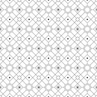 豪華な黒と白の色で幾何学的なイスラムのシームレスなパターン背景壁紙