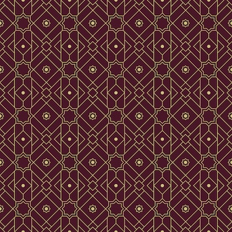 Geometric islamic seamless pattern background wallpaper in luxury maroon color