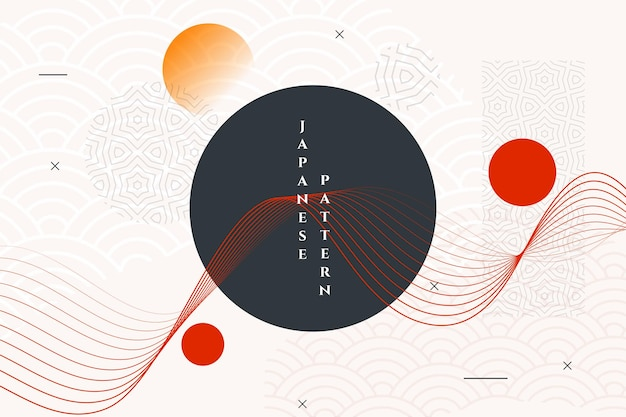 Geometric japanese style abstract wallpaper