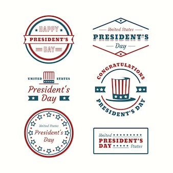 Geometric labels for president's day collection