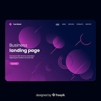 Pagina di destinazione geometrica