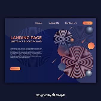 Geometric landing page