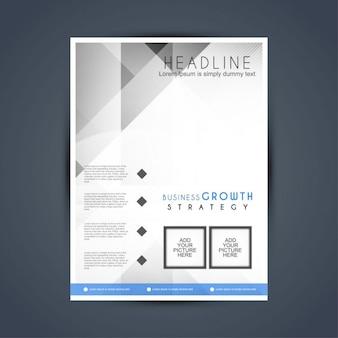 Современный стильный бизнес шаблон брошюры