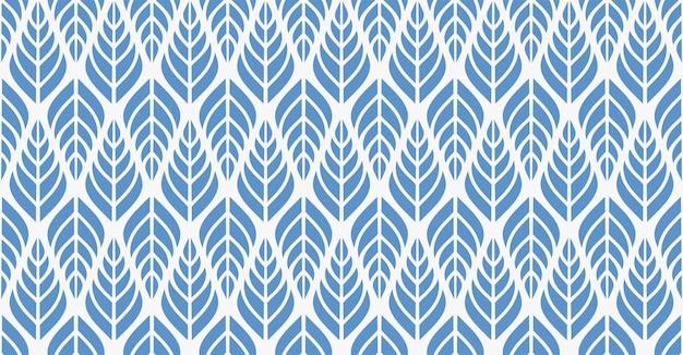 Геометрические листья вектор бесшовный фон